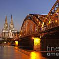 Hohenzollernbrucke In Cologne by Paul Fearn