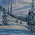 Happy Holidays - Winter Landscape by Cascade Colors