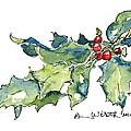 Holiday Holly by Barbara Wirth