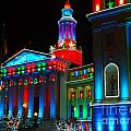Holiday Lights 2012 Denver City And County Building A1 by Feile Case