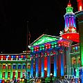 Holiday Lights 2012 Denver City And County Building C1 by Feile Case