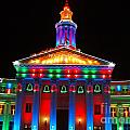 Holiday Lights 2012 Denver City And County Building D3 by Feile Case