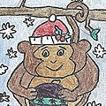Holiday Monkey by Fred Hanna