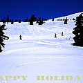 Holiday Skiers At Mt Hood  Oregon by Glenna McRae