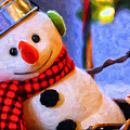 Holiday Snowman by Michael Pickett