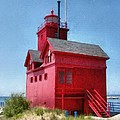 Holland Harbor And Big Red by Michelle Calkins