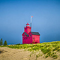 Holland Harbor Lighthouse Mi by Jack R Perry