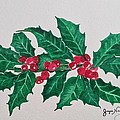 Holly Berries by Joyce Brooks Newman