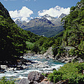 Hollyford River And The Eyre Range by Konrad Wothe
