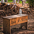 Holt Cemetery - God Is Love Bench by Kathleen K Parker