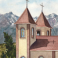 Holy Family Catholic Church In Fort Garland Colorado by Anne Gifford