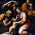 Holy Family Known As The Grande Famille Of Francois I, 1518 Oil On Canvas by Raphael