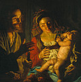 Holy Family by Matthias Stom