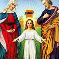 Holy Family With Cross by Munir Alawi