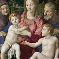 Holy Family With St. Anne And The Infant St. John by Agnolo Bronzino
