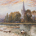 Holy Trinity Church On The Banks If The River Avon Stratford Upon Avon by Myles Birket Foster