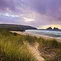 Holywell Bay Spectacular Sunset by Chris Smith