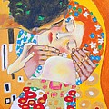 Homage To Master Klimt The Kiss by Susi Franco