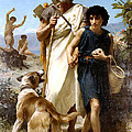 Homer And His Guide  by Adolphe William Bouguereau