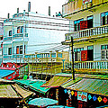 Homes In Tachilek-burma by Ruth Hager