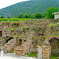 Homes Of The Rich In Central Ephesus-turkey by Ruth Hager