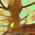 Honey Pastel Abstract by Alexander Butler