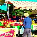 Honeycrisp Apples Fruit Stand Marcel Les Pommes St Joseph Du Lac  Food Art Scenes Carole Spandau by Carole Spandau