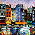 Honfleur-normandie - Palette Knife Oil Painting On Canvas By Leonid Afremov by Leonid Afremov