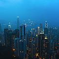 Hong Kong In Foggy Night by Hisao Mogi