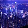 Hong Kong In Purple by Monique's Fine Art