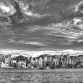 Hong Kong Skylines In Bw by Anson Lee