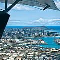Honolulu And Diamond Head by Dan McManus
