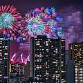Honolulu Festival Fireworks by Dan McManus