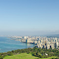 Honolulu From Atop Diamond Head State by Michael Defreitas