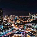 Honolulu Night Panorama by Dan McManus