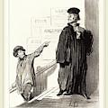 Honoré Daumier French, 1808-1879, Un Plaideur Peu Satisfait by Litz Collection