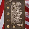 Honor The Veteran Signage With Flags 2 Panel Composite Digital Art by Thomas Woolworth
