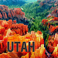 Hoodoos In Bryce Canyon Utah by Elaine Plesser