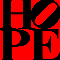Hope 20130710 Black Red by Wingsdomain Art and Photography