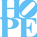 Hope 20130710 Blue White by Wingsdomain Art and Photography