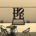 Hope And Chairs In Sepia by Rob Hans