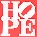 Hope Inverted Red by Rob Hans