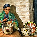 Hopi Basket Weaver by Marilyn Smith