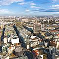 Horizontal Aerial View Of Berlin by Semmick Photo