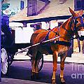 Horse And Carriage In Front Of Lafitte's Blacksmith Shop  by John Malone