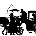 Horse And Carriage Silhouette by Rose Santuci-Sofranko