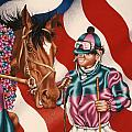 Horse And Jockey by Michael Andrew Frain
