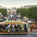 Horse And Trolley Main Street Disneyland 02 by Thomas Woolworth