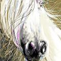 Horse Blowing In The Wind by Go Van Kampen