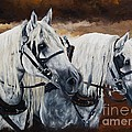 Horse Collar Workers by Pat DeLong